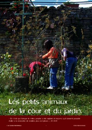 D couvrir les petits animaux de la cour et du jardin fichesp - Les animaux du jardin ...