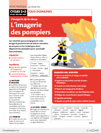Fiche metier pompier