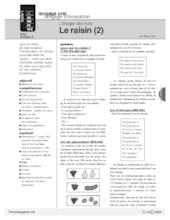 L'imagier des fruits : Le raisin (2)