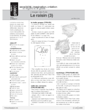 L'imagier des fruits : Le raisin (3)