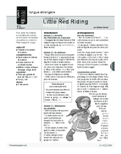 Little red riding hood (1) / L'anglais par le jeu
