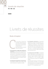 Livrets de réussite cycle 1 : introduction