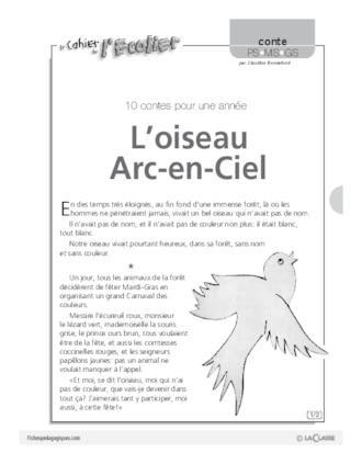 L Oiseau Arc En Ciel Conte Fichespedagogiques Com