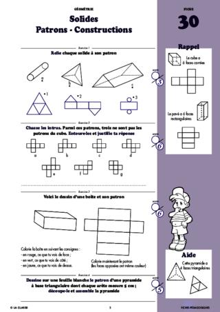 Géométrie au CM1 - FichesPédagogiques.com
