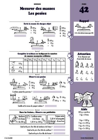 Calculer Des Mesures Maths Cm1 Fichespedagogiques Com