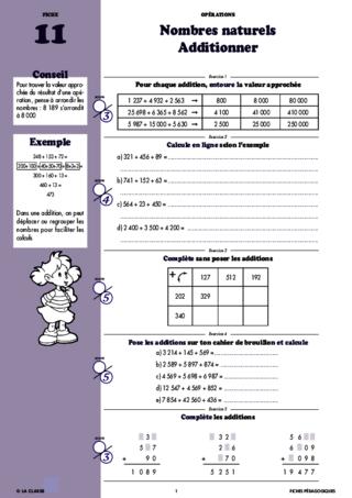 Operations Mathematiques Au Cm1 Fichespedagogiques Com