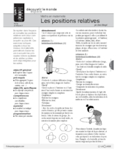 Maths en maternelle : Les positions relatives