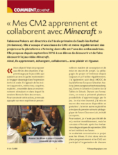 Mes CM2 apprennent et collaborent avec Minecraft