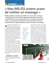 Mes MS-GS votent avant de twitter un message