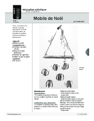 Mobile de no l fichesp - Mobile noel maternelle ...