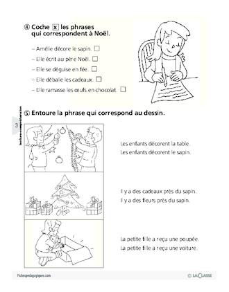 Noël Lecture écriture Cp Fichespédagogiquescom