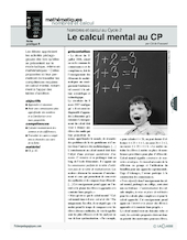Nombres et calcul au cycle 2 (6) / Le calcul mental au CP