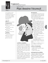 Pipo le clown (6) / Pipo dessine l'écureuil