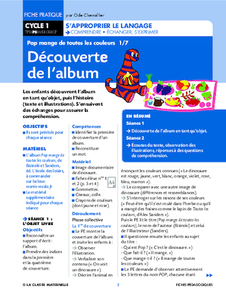 Gut bekannt Pop mange de toutes les couleurs - FichesPédagogiques.com OF09