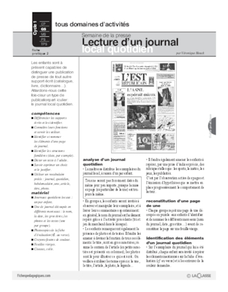 Presse (2) / Lecture d'un journal local quotidien