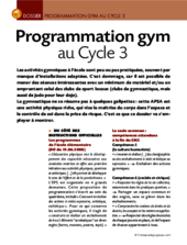 Programmation gym au Cycle 3