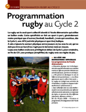 Programmation rugby (cycle 2)