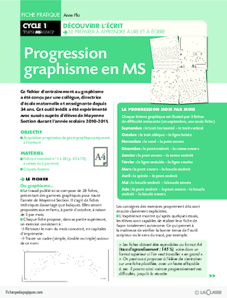 Progression graphisme en MS
