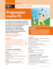 Progression maths PS (1)