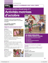 Progression motricité en GS (3) / Octobre