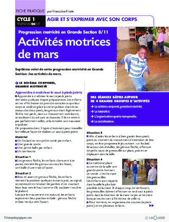 Progression motricité en GS (8) / Mars