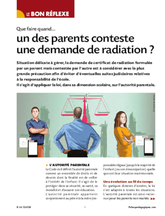 Que faire quand un des parents conteste une demande de radiation ?
