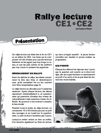 Rallye lecture CE 2013