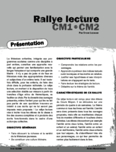 Rallye lecture CM 2012