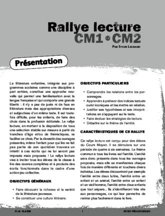 Rallye lecture cm