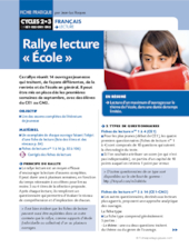 Rallye lecture « école »
