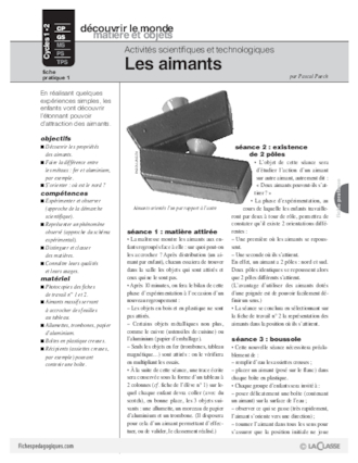 Sciences et techno (1) / Les aimants