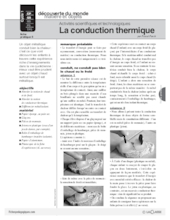 Sciences et techno (5) / La conduction thermique