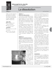 Sciences et techno (8) / La dissolution