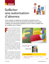 Solliciter une autorisation d'absence