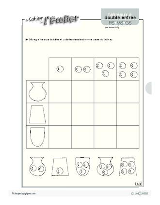 Tableaux à double entrée (5) - FichesPédagogiques.com