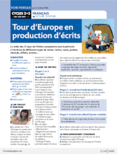 Tour d'Europe en production d'écrits