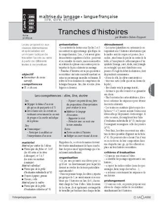Tranches d'histoires