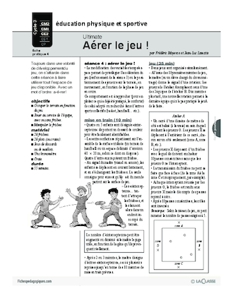 Ultimate (4) / Aérer le jeu!