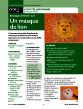 Un masque de lion