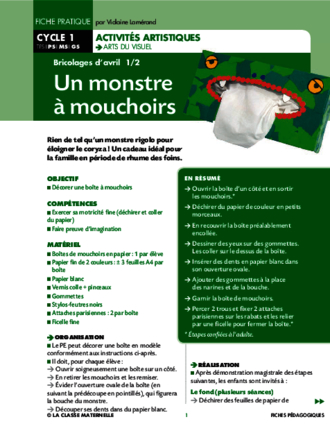 Un monstre à mouchoirs