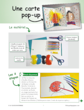 Une carte pop-up