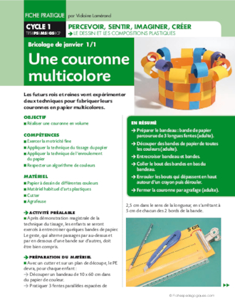 Couronne multicolore