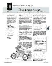 Vélo (2) / Equilibrons-nous!