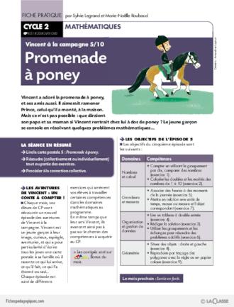 Fabuleux Vincent à la campagne (5) / Promenade à poney - FichesPédagogiques.com WH67